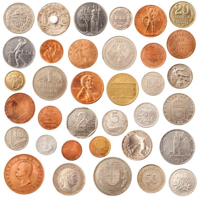 海外の変わった形のコイン