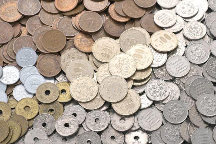 日本の硬貨の原価