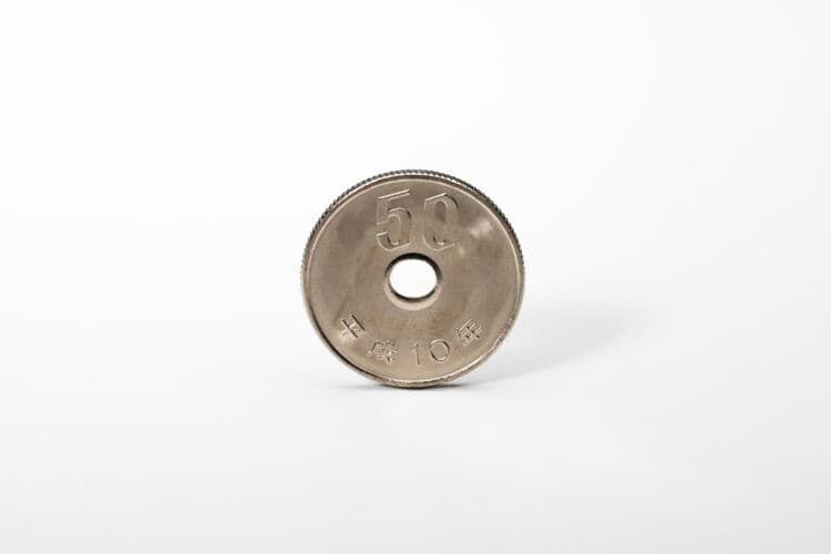 50円硬貨の素材